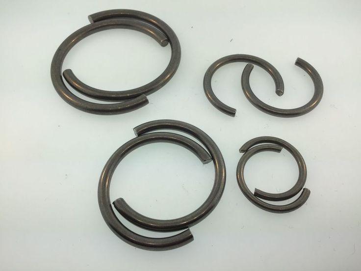 Set of 8 Antique Clock Repair Mainspring C Clamps 4 sizes