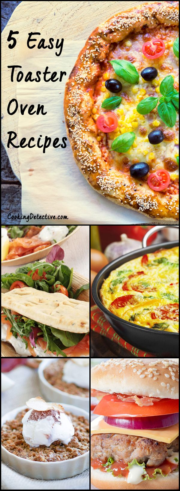 Check out these easy toaster oven recipes if you are simply looking for an easy, tasty and quick recipe to cook tonight or maybe even tomorrow breakfast.