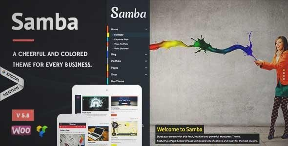 Download and review of Samba - Colored WordPress Theme, one of the best Themeforest Creatives themes {Download & review at|Review and download at} {|-> }http://best-wordpress-theme.net/samba-colored-download-review/