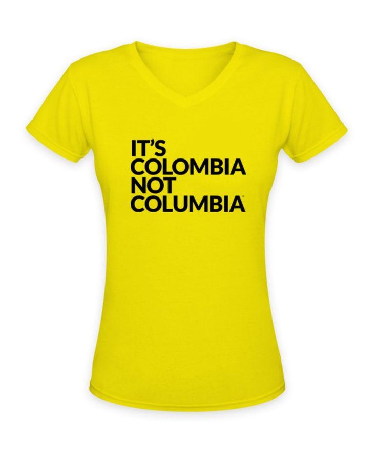 Camiseta Amarilla Mujer / Yellow T-shirt Woman | Its Colombia not Columbia