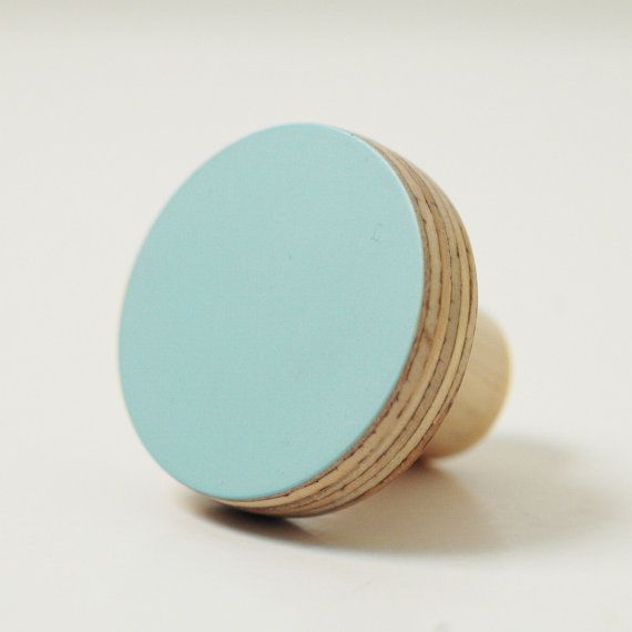 Wooden knobs blue color