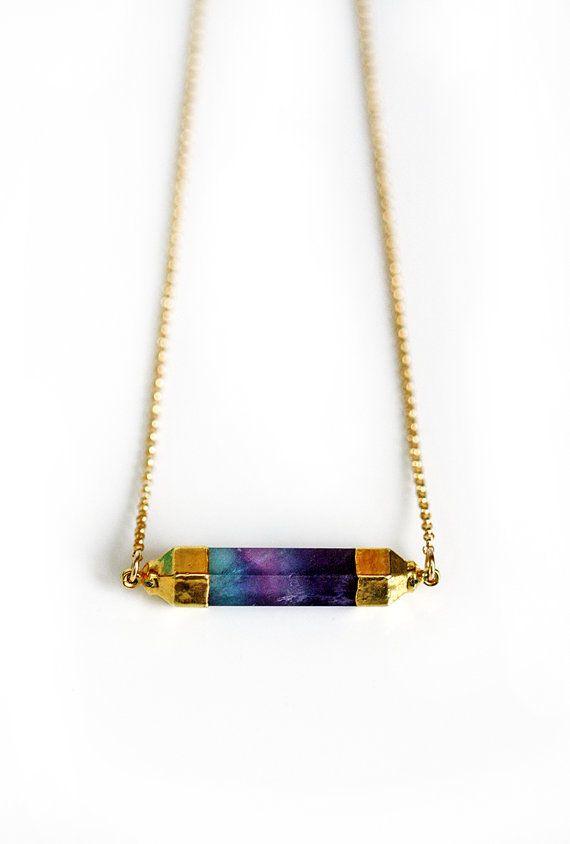 FLUORITE bar necklace - pre-order 10/29