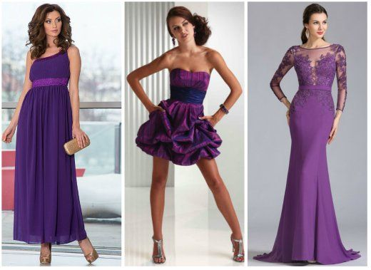 Фиолетовые платья картинка