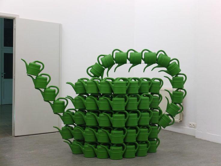 WO AND WÉ planter sculpture