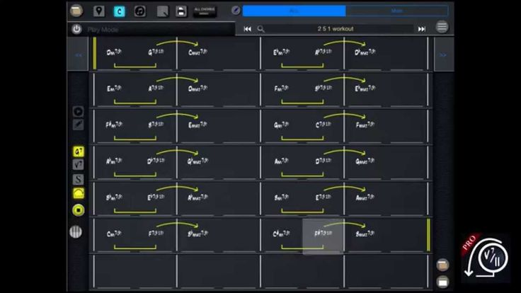 Jazz Insane Workout #9 Progression 2 5 1 (Mapping Tonal Harmony Pro)