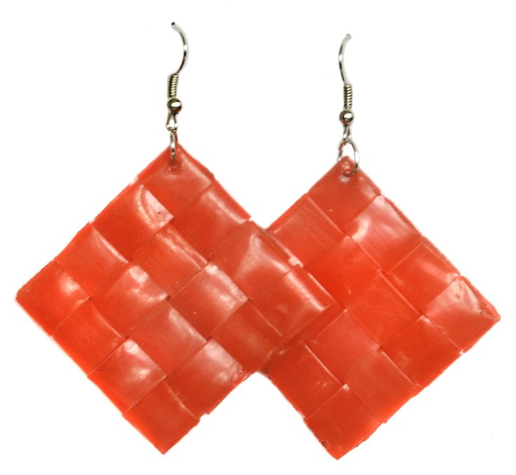 Recycled Drinking Straw Earrings