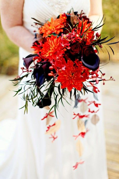 Elegant Halloween Wedding Idea