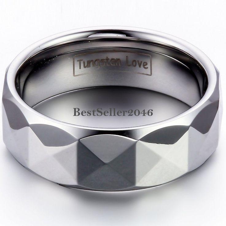 Herren Wolframcarbid Ring Facettiert Partnerring Ehering Trauring 8mm breit | Uhren & Schmuck, Modeschmuck, Ringe | eBay!