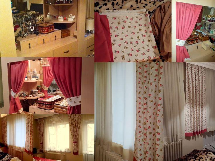 Yatak odası yenileme. Detaylar için http://ozgecivil.blogspot.com.tr  Re-decorating bedroom with a new fabrics.
