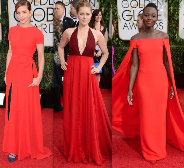 alfombra roja globos de oro color rojo