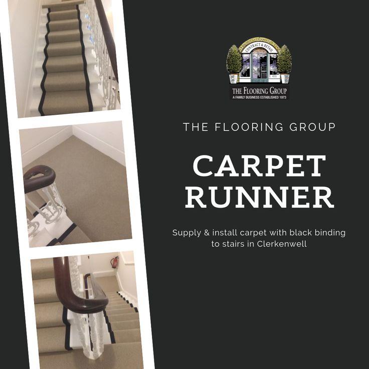 Carpet Runner With Black Binding Installed In Clerkenwell