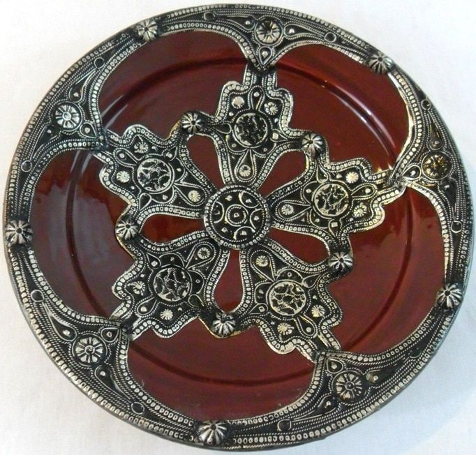 Mediterranean Majestique Ceramic and Metal Decorative Plate