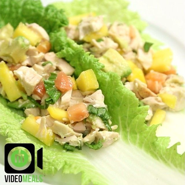 Cabbage Chicken Wrap from videomeals's video on Instagram