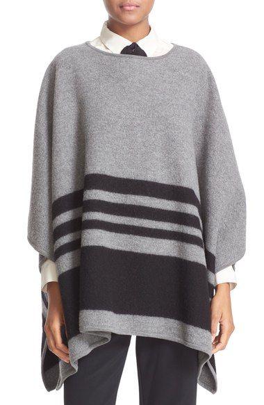 kate spade new york stripe merino wool poncho