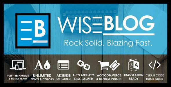 Wise Blog – Adsense Optimized News, Magazine Blog and Shop Theme  -  https://themekeeper.com/item/wordpress/blog-magazine/wise-blog-shop-theme