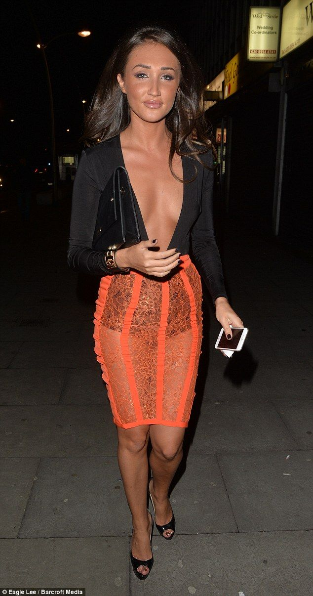 Sexy look: Megan McKenna and Jasmin Walia ensured they were centre of attention among their TV cohorts as they stepped out in their native Essex to head of Faces night club on Christmas Eve