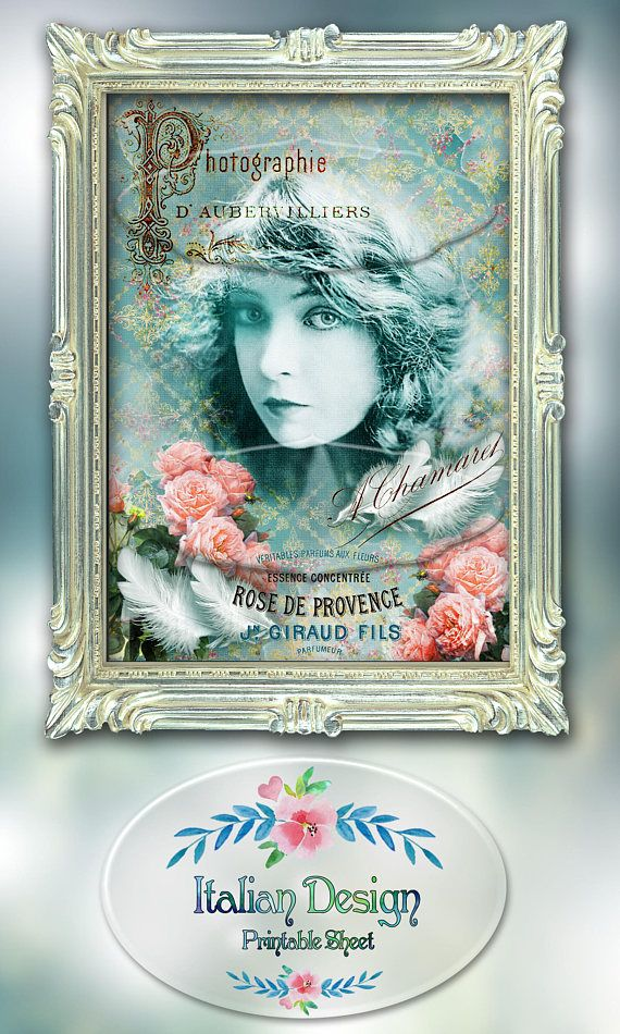 Printable wall artInstant download Victorian ladyVintage