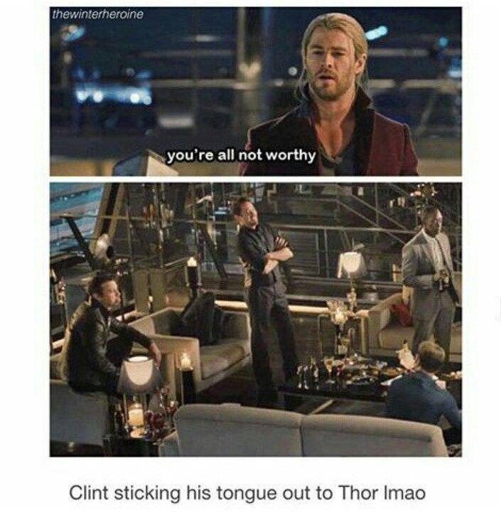 One of the many reasons I love Clint Barton!