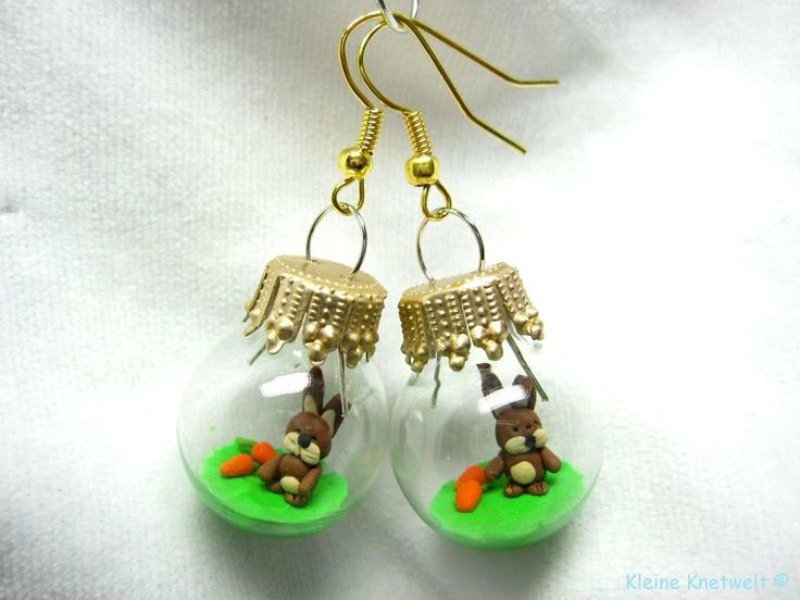 Easter Bunny earring fashion jewelry polymer clay earrings