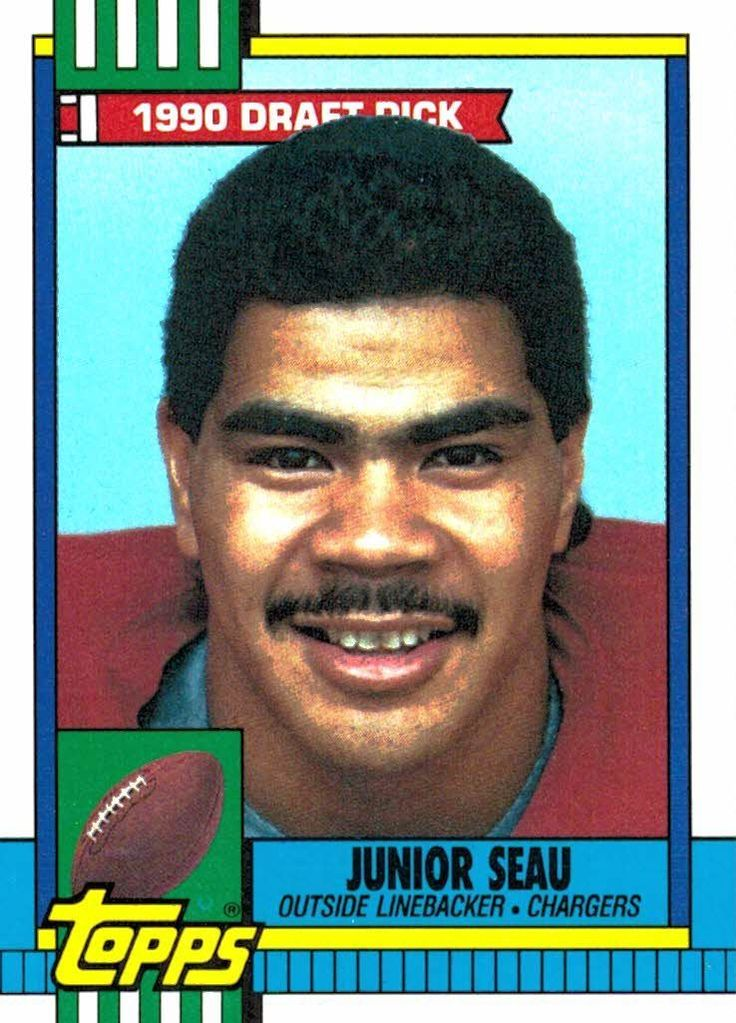 1990 Topps Junior Seau Draft Pick San Diego Chargers