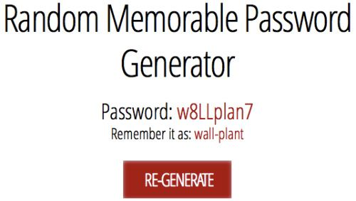 Be Secure! Use the Random Memorable Password Generator!