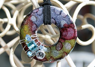 Alcohol Ink Washer Pendant - Life Made Creations: tutorials