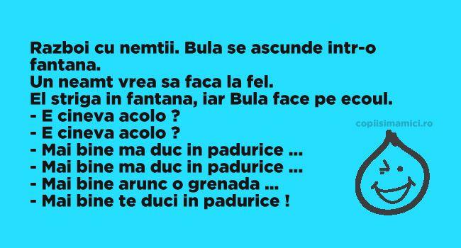 Bula In Razboi Cu Nemtii #banc #bancuri #bancuridecente #bancurihaioase #bancuritari #glume