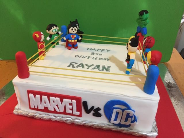 Marvel Vs. DC | Farial Loves Cakes - visit to grab an unforgettable cool 3D…
