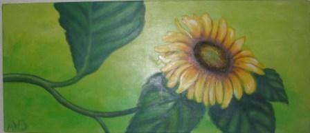 Sonnenblume in Acryl