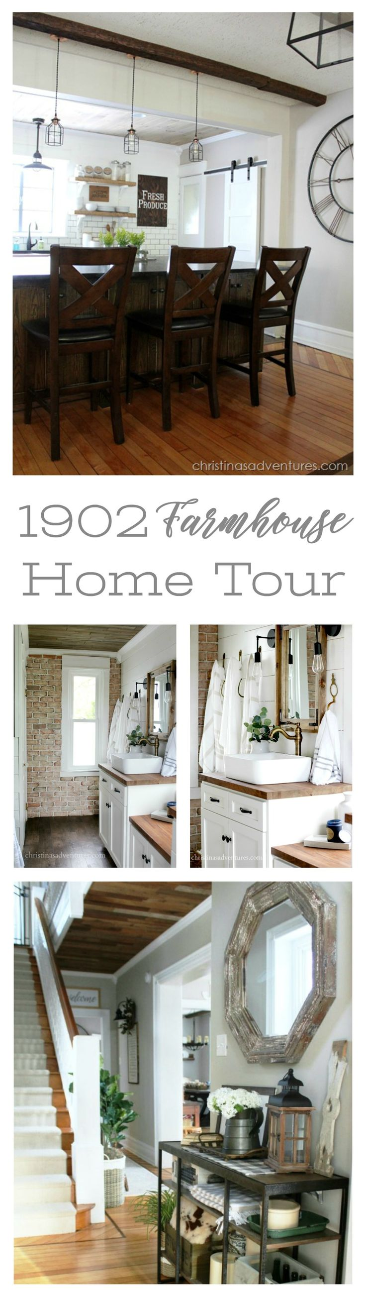 1902 Victorian Farmhouse Home Tour with Christina's Adventures - get inspired with amazing before and afters of this renovated vintage house.