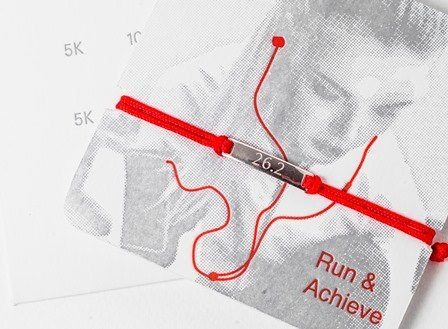 Marathon run bracelet  - celebrate that achievement!