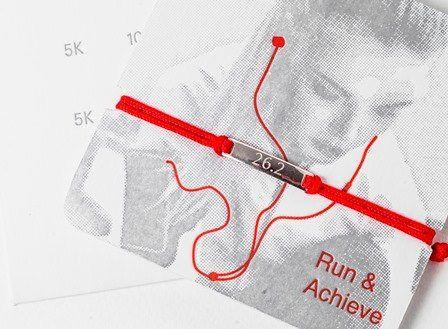 ON SALE Marathon run bracelet running gift marathon gift for