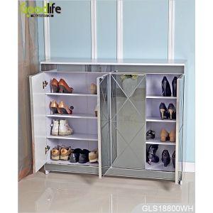 Lusso a specchio scarpe di legno armadio di stoccaggio per soggiorno GLS18800
