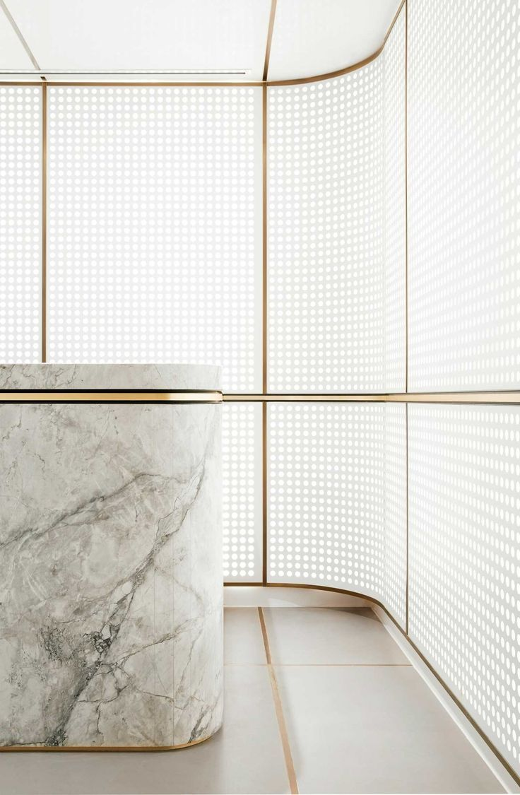 Marble Reception | Gold Details | Architland