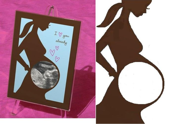 DIY Baby Photo Frame Sonogram, I would do this with my silhouette