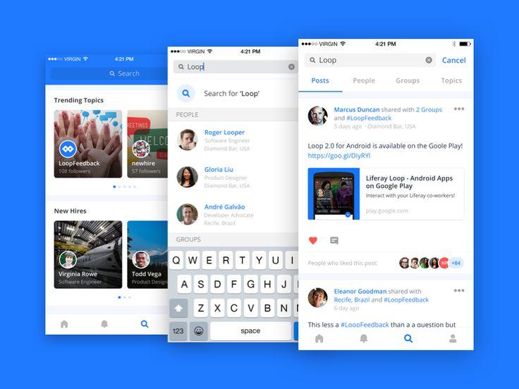 Liferay Loop iOS Search Workflow by Felipe Pires