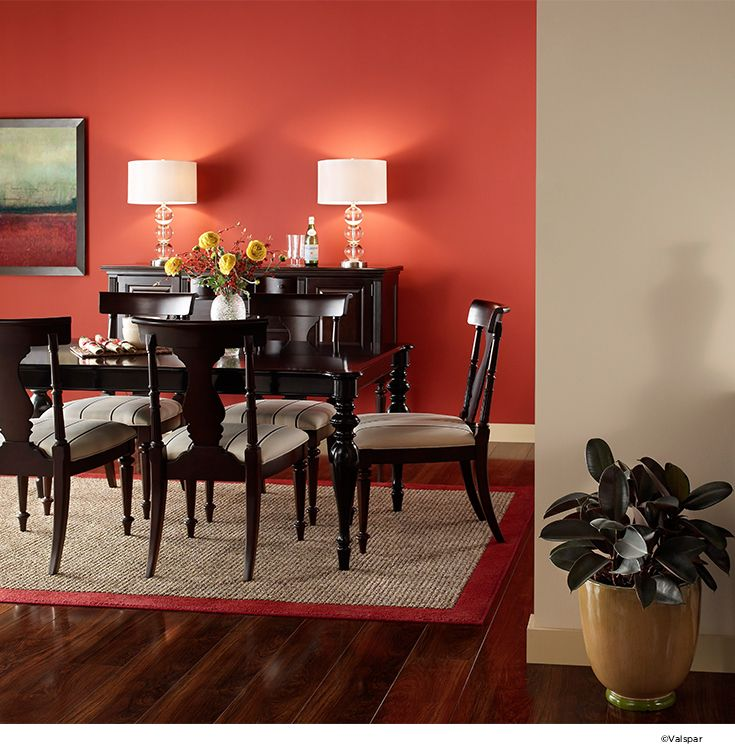 Have Fun With Color Even In More Formal Dining Rooms Valspar ColorsValspar PaintInterior