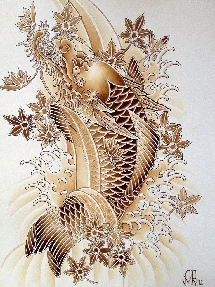 Best 20 koi dragon tattoo ideas on pinterest dragon koi for Dragon koi fish