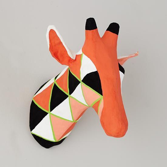 $69 want.  The Land of Nod | Kids Decor: Paper Mache Giraffe Head in All New