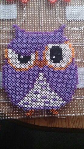 Owl hama perler beads by Susanne Damgård Sørensen - Pattern: http://www.pinterest.com/pin/374291419005856305/