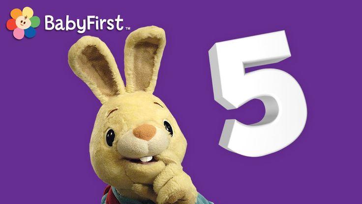 BabyFirstTV: Harry el Conejito: Aprendiendo el número 5 | Aprender los n...