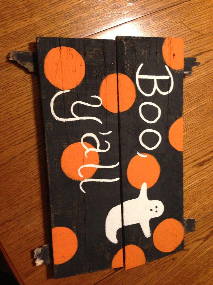 Halloween pallet sign