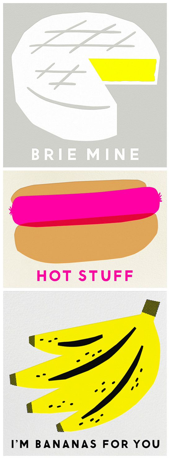 Food Valentines for Paperless Post by Erin Jang #inspiration