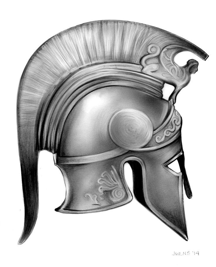 greek helmet drawing - Sök på Google