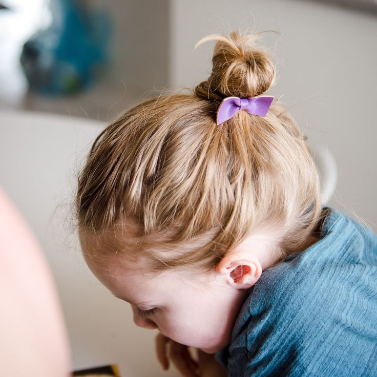 Messy buns are sweet at any age!