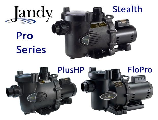 Several Jandy Pro Series Swimming Pool Pumps Including The Stealth Plushp And Flopro Models Pool Pump Pool Equipment Pool