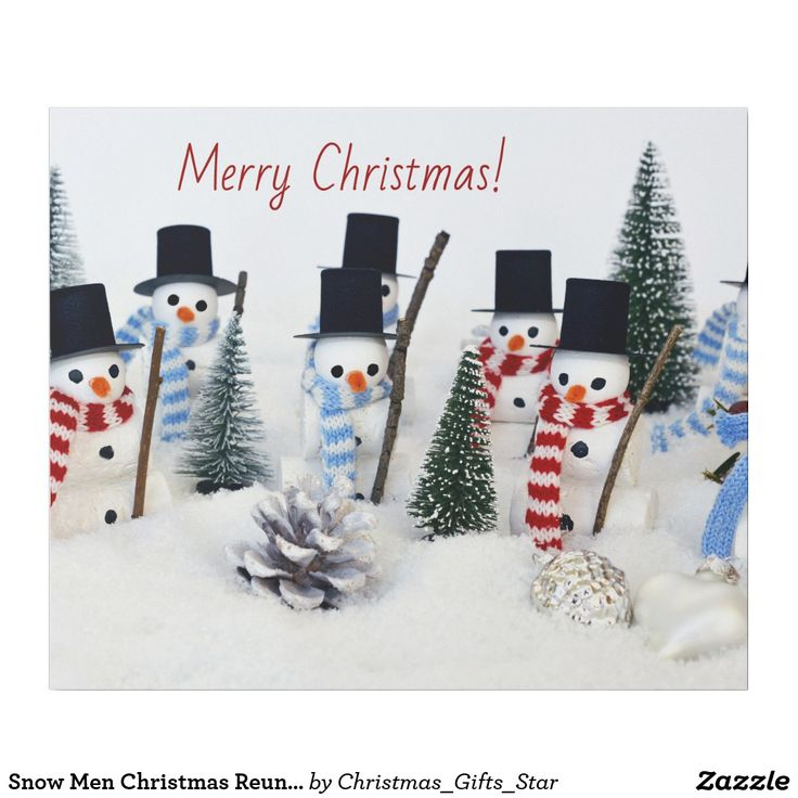 Snow Men Christmas Reunion Wrapping Paper