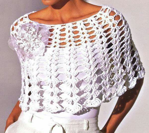 8 best Ponchos tejidos images on Pinterest