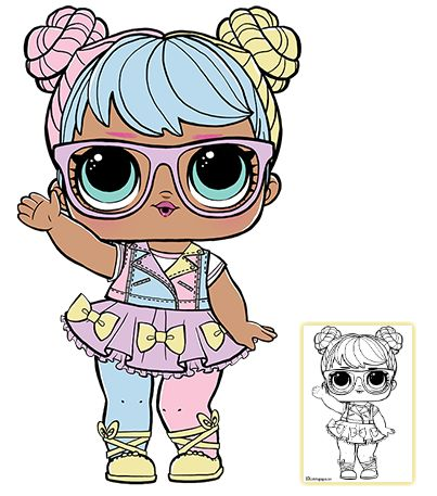LOL Surprise Doll Coloring Pages – Page 4 – Color your favorite LOL Surprise Doll!