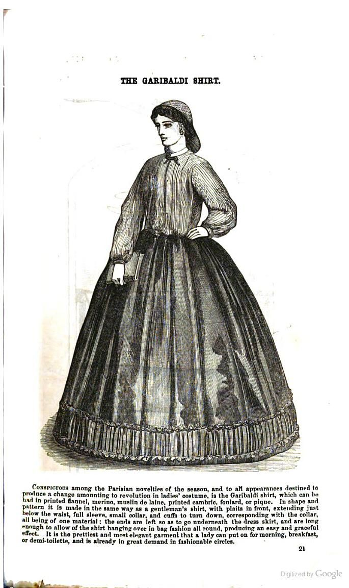 Godey's Magazine - Google Books  What the Garibaldi blouse actually looked like.  It was a men's shirt according to Godey's.